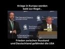 Kriege in Europa werden bald zur Regel... Frieden zwischen Russland und Deutschland gefährdet die USA...!