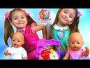 Играем в КУКЛЫ Беби Бон Настя Кормим пупсиков и Учим названия Фруктов и Овощей/ Для детей
