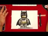 Как нарисовать Лего БЭТМЕН - How to Draw Lego Batman - урок рисования
