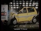 Fiat Cinquecento + Renault Twingo - test zderzeniowy 1993r (crash test)