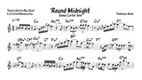 James Carter - 'Round Midnight (Eb transcription)