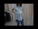 Футболка Хельга для беременных и кормящих серый меланж белый