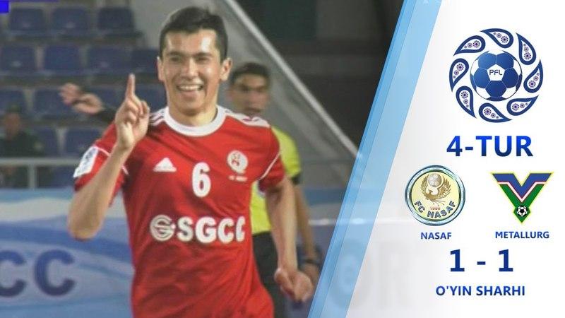 Superliga. 4-tur. Nasaf - Metallurg - 1:1. | O'yin sharhi (30.03.2018)