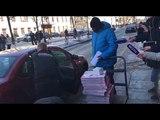 Проголодались собираться. В выезжающее из Петербурга консульство США заказали 21 коробку пиццы