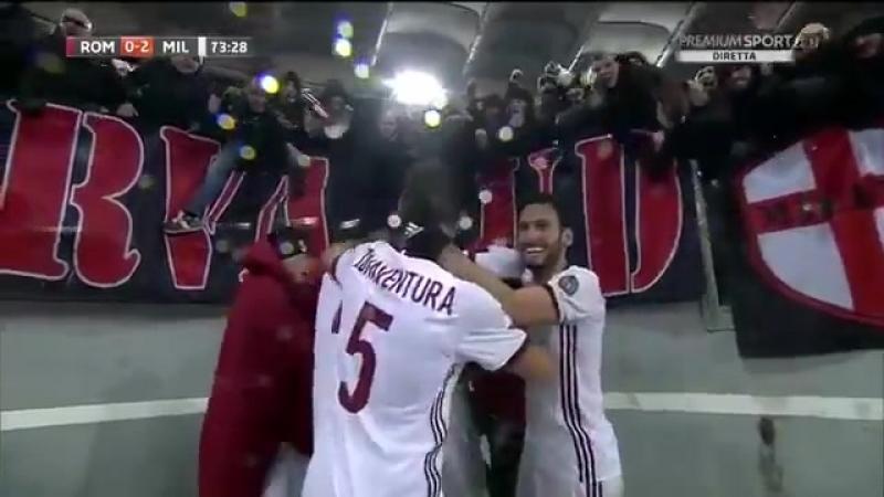 Pellegatti in Roma 0-2 Milan ForzaMilan