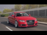 Audi A4 B8 Bagged _ Vossen 20 CVT Concave Wheels _ Poland Video