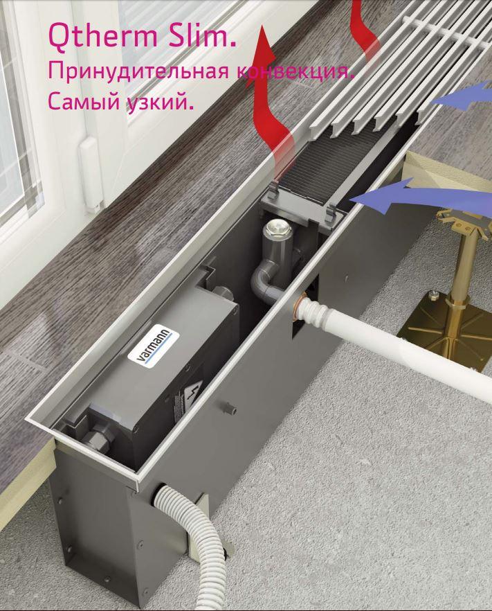 varmann внутрипольный конвектор Qtherm Slim
