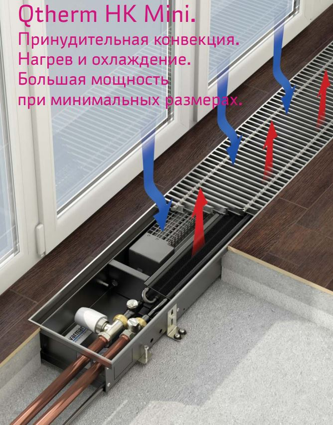 varmann внутрипольный конвектор Qtherm HK MINI