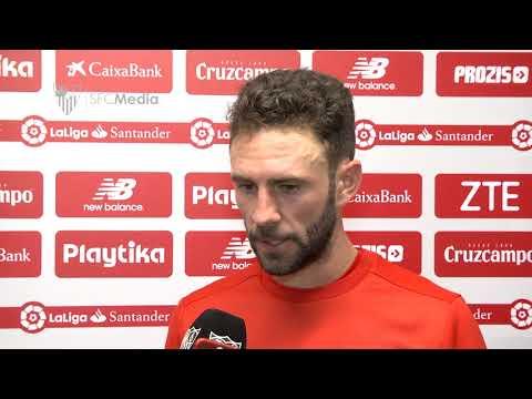 LAYÚN: LA SENSACIÓN AL FINAL ES AMARGA POR EL RESULTADO. SEVILLA FC. 31/03/18