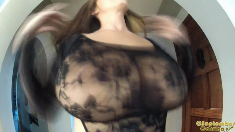 September Carrino and her soft bouncy boobies