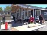 как делают каркасные дома в Норвегии.