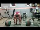 Иван Макаров (Грузия), становая тяга без экипировки - 370 кг на 6 раз 💪 💪💪