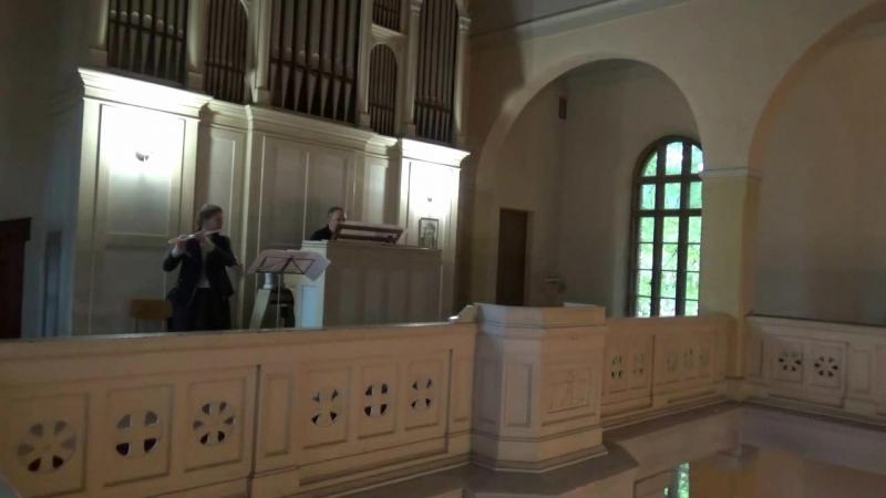 И.С.Бах, Соната для флейты и клавесина до мажор. 1 часть.Bach, Flauto sonata in C