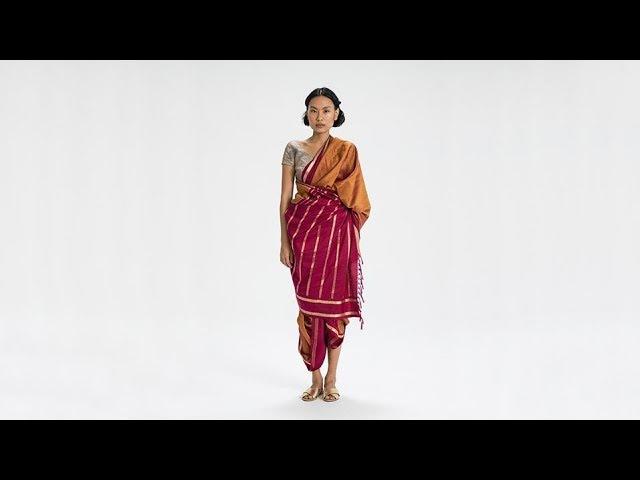 How To Drape a Sari: No. 55 Kaatakari Drape - Maharashtra, India