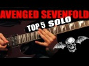TOP 5 AVENGED SEVENFOLD GUITAR SOLO
