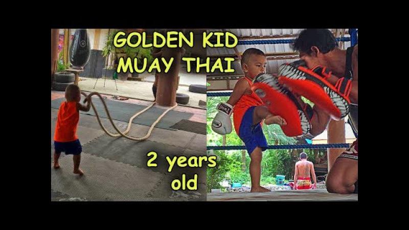 GOLDEN KID MUAY THAI / Unbelievable, he is 2 years old.