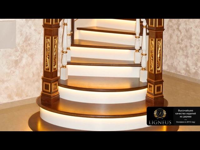 Деревянные лестницы на металлокаркасе в Казани