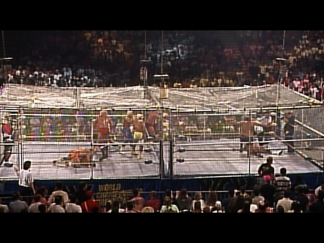 Sting Brian Pillman Steiner Brothers vs The Four Horsemen WarGames Match WCW WrestleWar 1991
