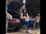 Cute Girl Sofi performs Seeya   Chocolata Papito song with darbuka