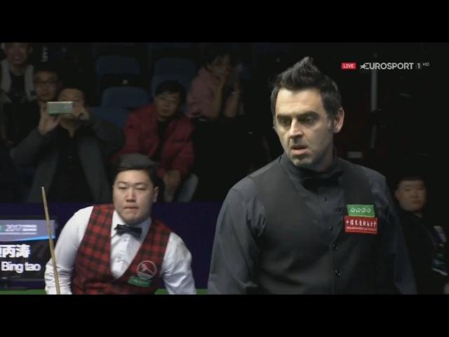Ronnie OSullivan v Yan Bingtao 颜丙涛 R1 International Championship 2017