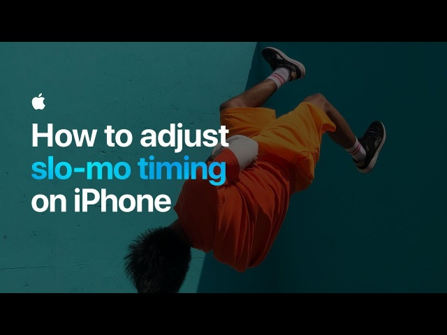 How to adjust slo-mo timing on iPhone — Apple