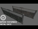 3Ds Max &amp Substance Painter - Speed Texturing - Metal Gate 2