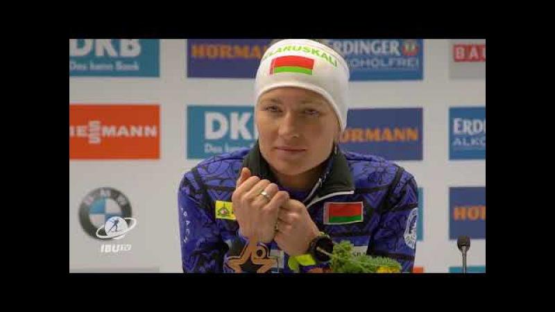 Пресс-конференция женской гонки преследования (09.12.2017)