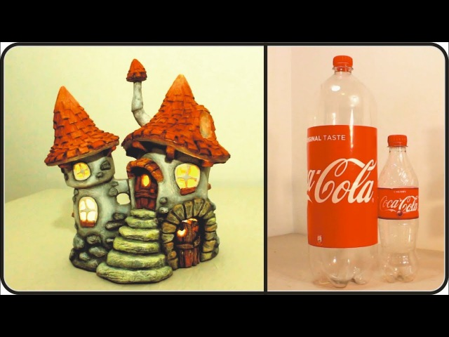 ❣DIY Fairy House Inn Recycling Plastic Bottles❣