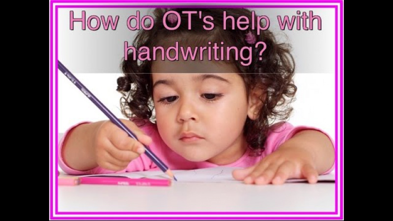 How can Occupational therapists improve handwriting?