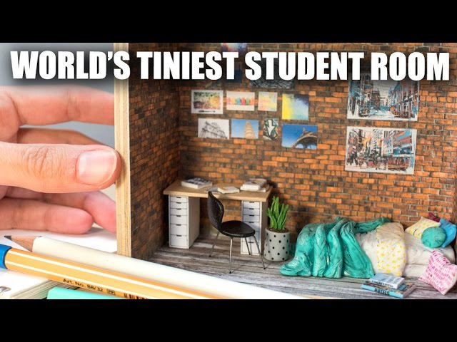 Miniature Student Room/Dorm Sculpture How To Tutorial w. Graphicstock