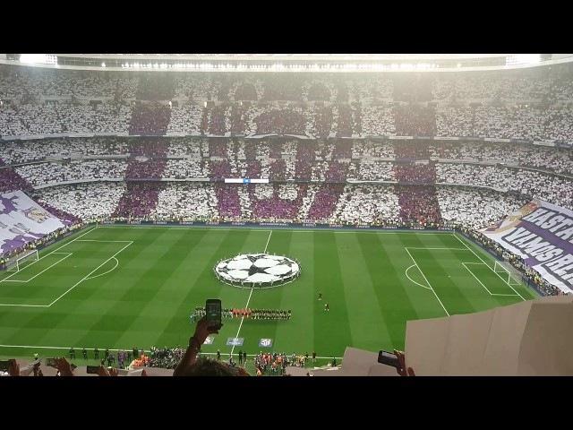 Himno Champions Tifo. Semifinal 2017 Real Madrid-Atlético.