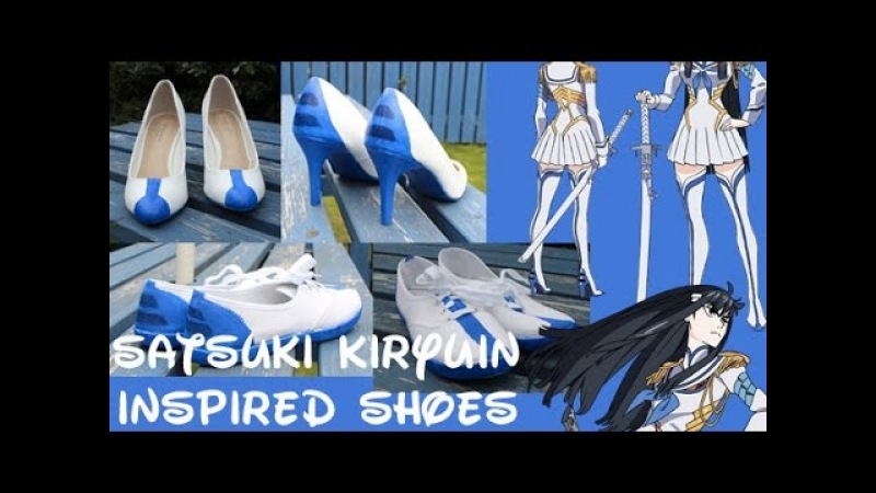 Kill la Kill Satsuki Kiryūin Inspired Shoes [Time-lapse]