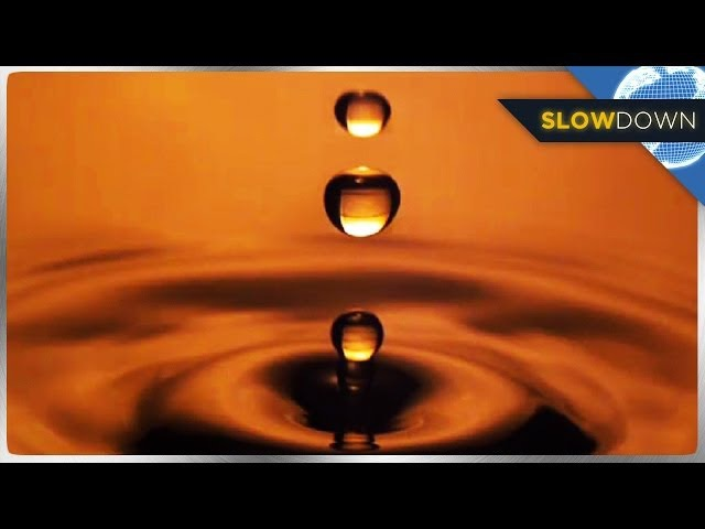 Delicate Water Droplets in Slow Motion