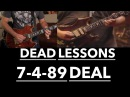 Grateful Dead Guitar Lesson - Deal Harmonic Analysis Jerry Garcia Solos with Tab (7/4/89 Buffalo)