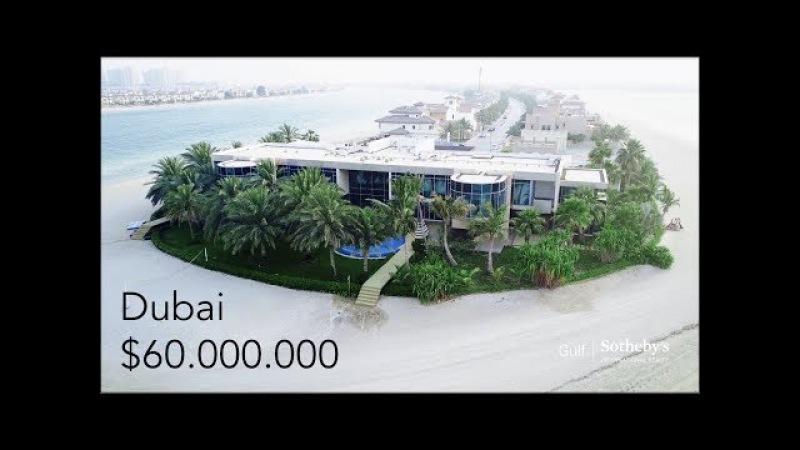 $60 Million Dubai Mega Mansion - Palm Jumeirah Island Villa