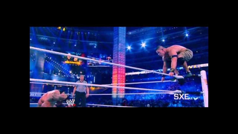 WWE John Cena Vs The Rock Wrestlemania 29 Highlights [HD]