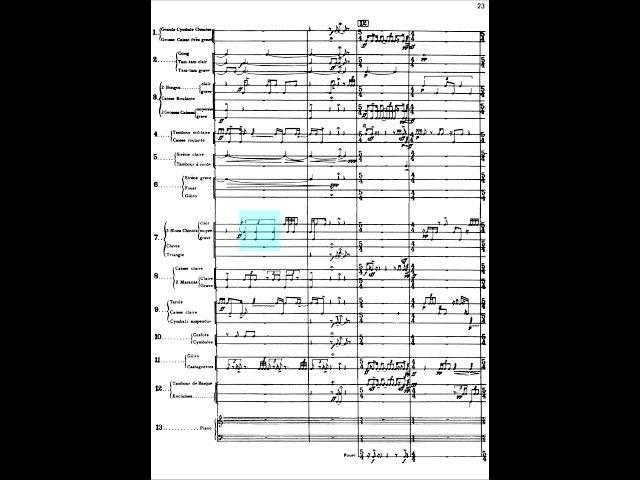 Edgard Varèse Ionisation for 13 percussionists 1931