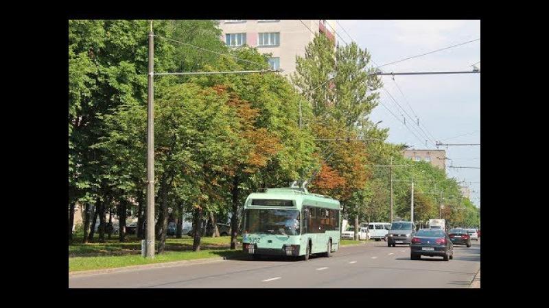 Поездка на троллейбусе БКМ-32102,борт.№ 5352 (21.03.2016)