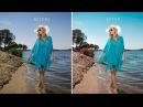 Apply Aqua Brown Color Scheme to Photos in Photoshop - Edit Summer Beach Photography