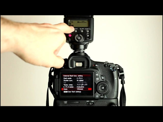 Canon EOS 60D Tutorial Video 3 Part 2 - Flash Menu - External Speedlite