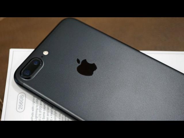 IPhone 7 Plus in BLACK 256GB Unboxing