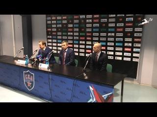Пресс-конференция после матча СКА -