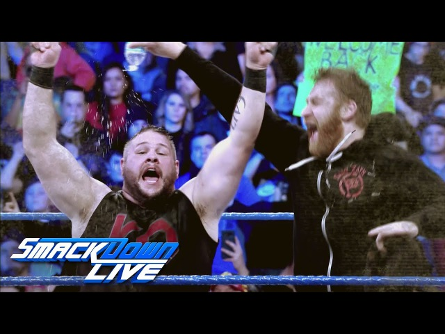 Relive the bitter rivalry between AJ Styles, Kevin Owens Sami Zayn: SmackDown LIVE, Jan. 16, 201..