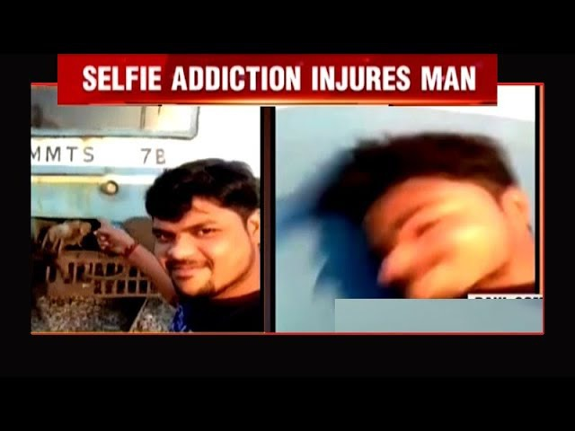 On cam Man tries taking selfie in front of moving train, severely injured