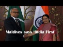 Maldives allays concerns on China, says 'India First'
