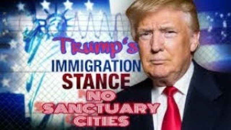 Trump's Immigration Stance No Sanctuary Cities While At Border Wall (Full Compilation)