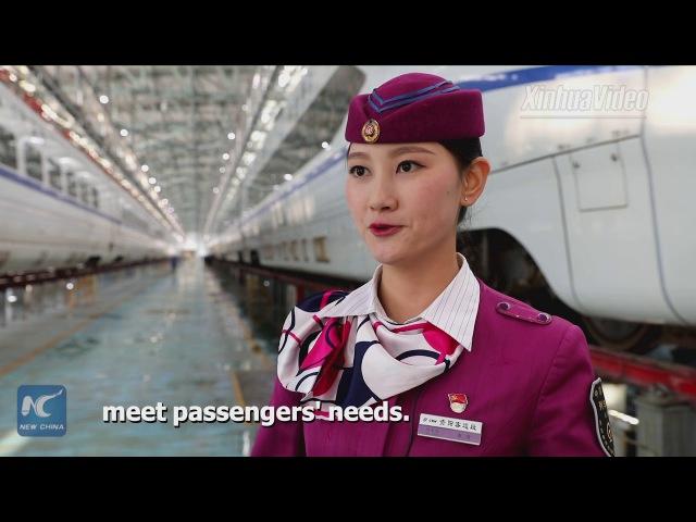 Crew of Chinas Chongqing-Guiyang high-speed railway make debut