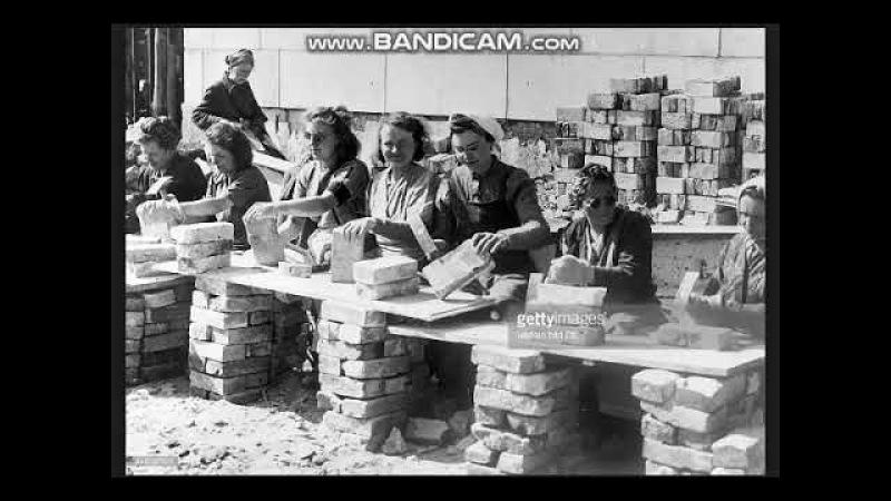 Deutschland 's Trümmerfrauen die wahren Helden