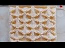 Объемный узор Клоке Вязание спицами Видеоурок 200