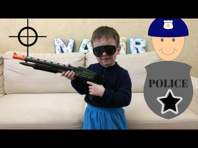 Toy Gun Police set Nazir policeman KIDS FOR VIDEO